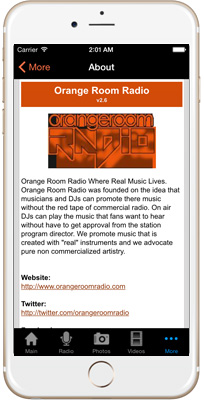 Orange Room Radio iPhone App