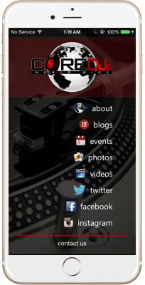 Core DJs iPhone App