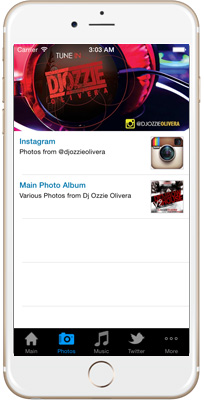 Dj Ozzie Olivera iPhone App