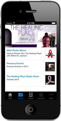 The Healing Place iPhone App