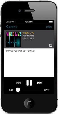 Vibes-Live iPhone App