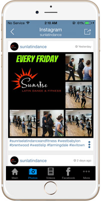 Sunrise Latin Dance & Fitness iPhone App