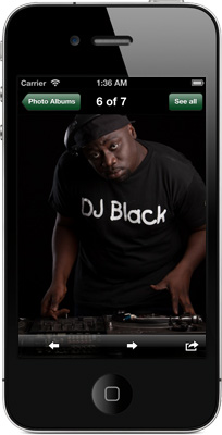 DJ Black iPhone App
