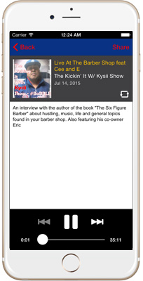 The Kickin' It With Kysii Show iPhone App