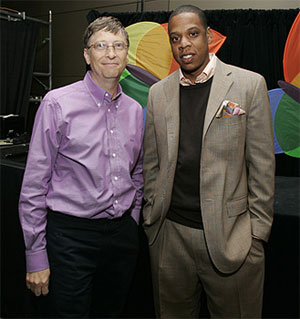 Bill Gates and Jay-Z