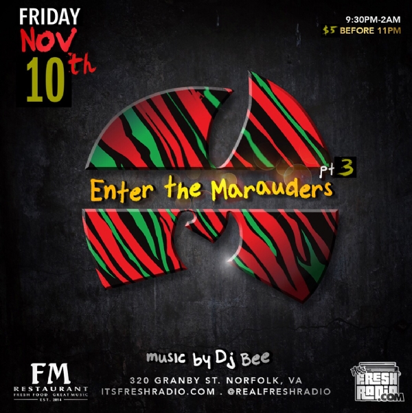 Next Friday! Enter The Marauders @FMonGranby
