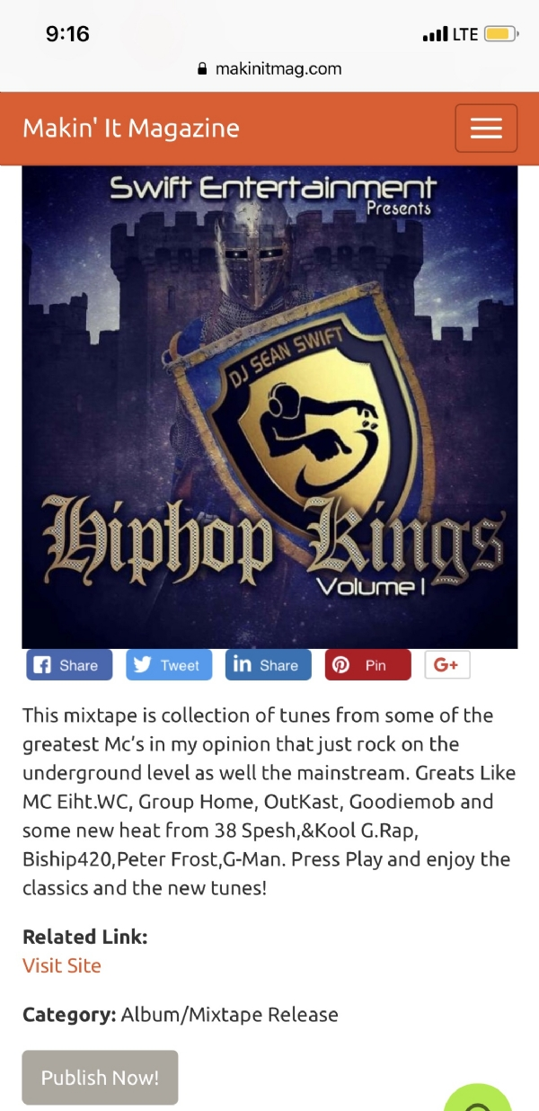 Cop The HipHop Kings Vol.1 audiomack.com/artist/dj-sean-swift
