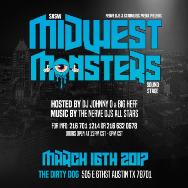 Will you be at SXSW this year? Get to the Midwest Monsters Sound Stage, March 16th @ The Dirty Dog!