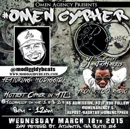 Omen Agnecy Cypher Tonight!! Featuring Mo Diggidy Beats!!
