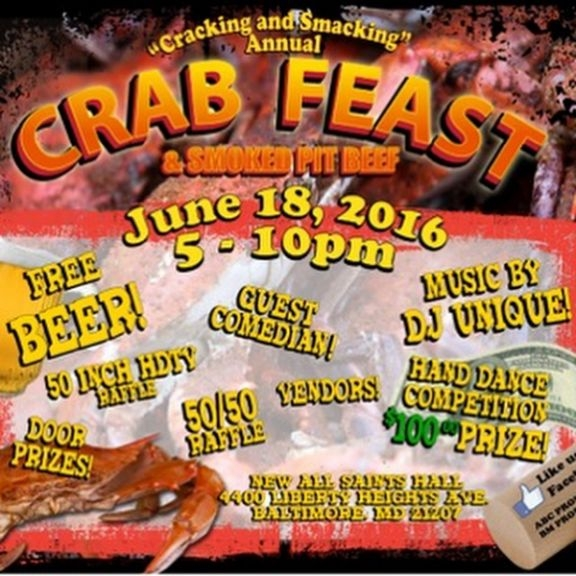 Oldie but goodie crab feast June 18th 5pm-10pm