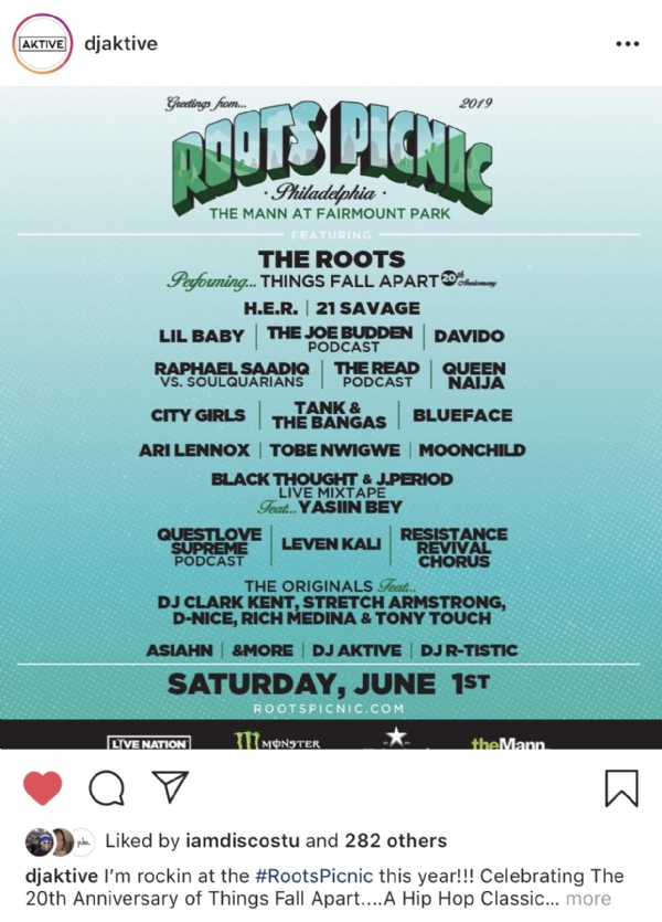Roots Picnic Lineup Announced
