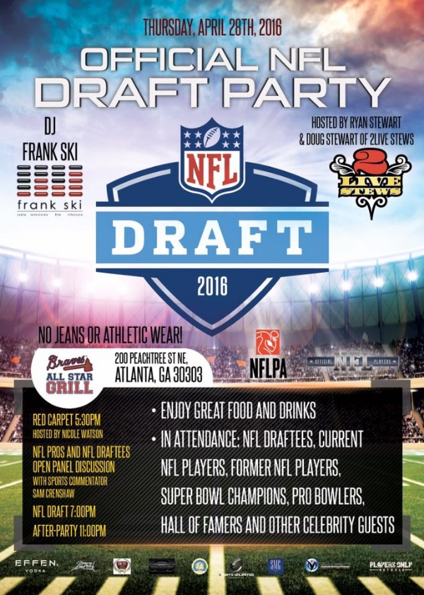 Official NFL Draft Party hosted by the 2 Live Stews (@1livestew @Doug2LiveStews) with DJ @FrankSki