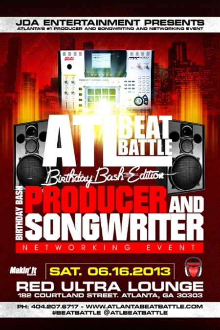 ATTN: Atlanta - ATL Beat Battle Producer and Songwriter Networking Event, June 16th