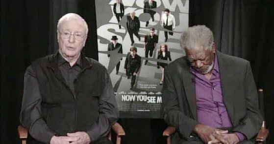 Morgan Freeman Falls Asleep During An Interview For His Upcoming Film 'Now You See Me' (Video)