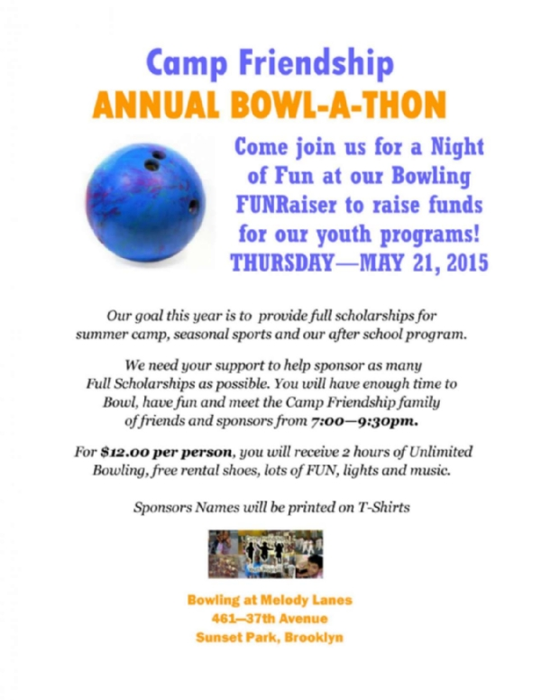 Camp Friendship's Annual Bowl-A-Thon Fundraiser Event