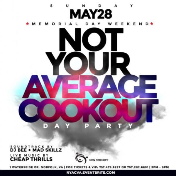 ***TOMORROW*** Not Your Average Cookout!!!!