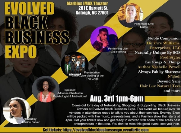 ADRIENNE CHARLESTON will speak at the EVOLVED BLACK BUSINESS EXPO on AUG. 3rd