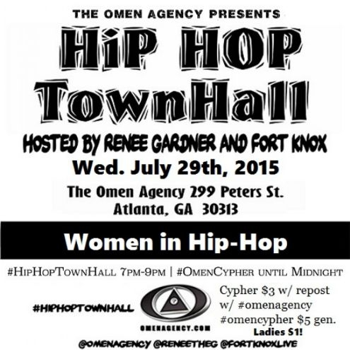Hip Hop Town Hall in Atlanta TONIGHT!!!