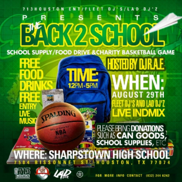 Back to school drive (Sharpstown Highschool Edition)