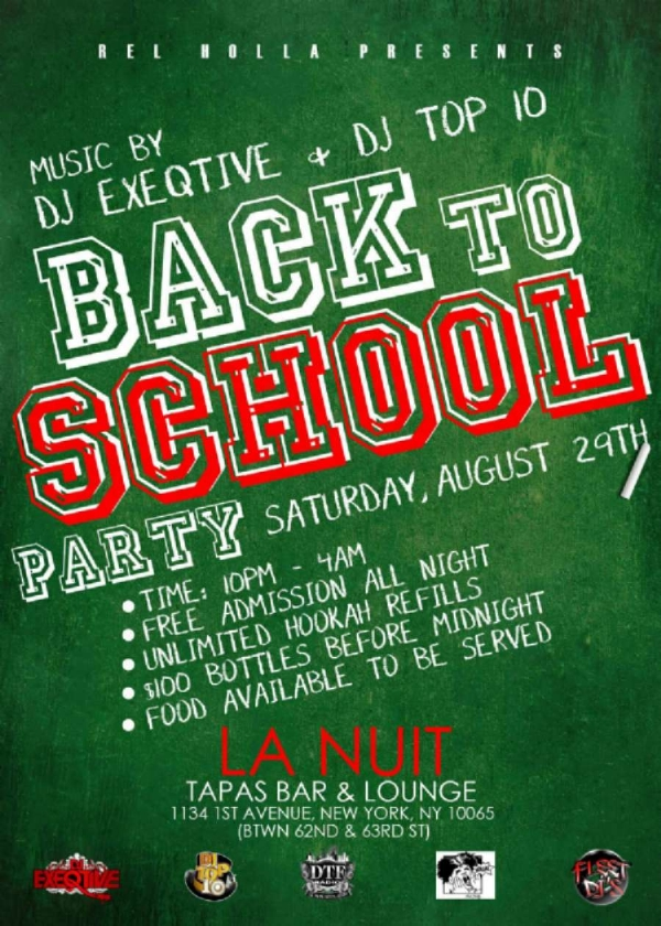 Come party with me at La Nuit This Saturday