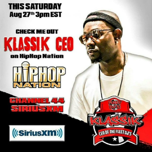 CHECK OUT @KLASSIKCEO ON CHANNEL 44 THIS SAT 3PM ON HIPHOP NATION #SiriusXM