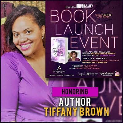 Author Tiffany Brown's Official Book Launch Party on Aug. 10th hosted by JAY of Blacktopia