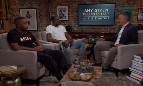 "Bill Simmons Welcomes Guests Nas And Kevin Durant To ""Any Given Wednesday"" (Video)"