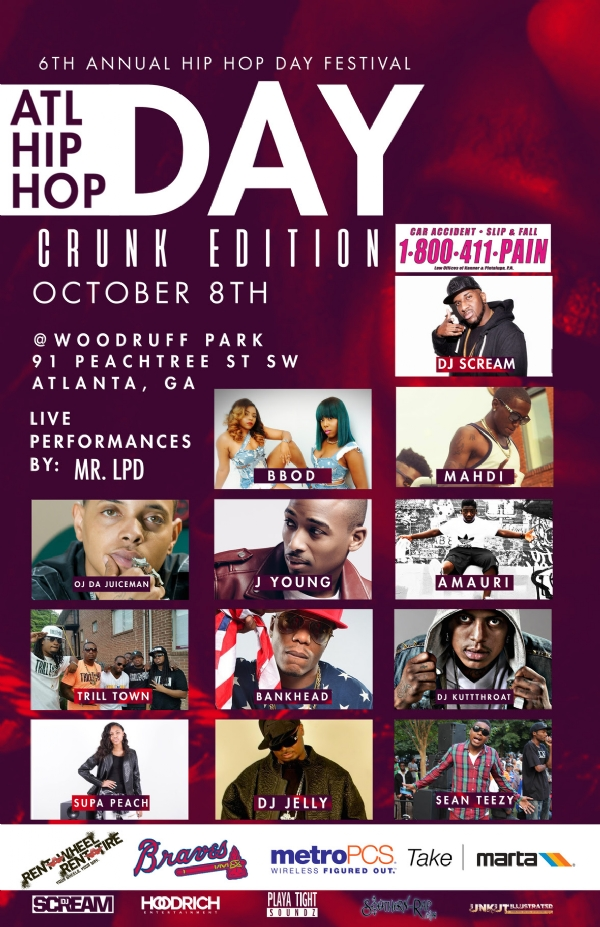 6th Annual Atlanta Hip Hop Day Festival- October 8th & 9th