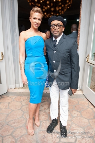 Director/Producer Spike Lee and wife Tonya Lee
