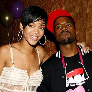 Rihanna and Kanye West
