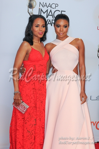 Actresses Kerry Washington and Gabrielle Union