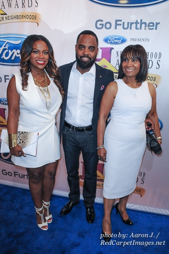 Singer and Reality TV Star Kandi Burruss her Mother and Husband Todd Tucker