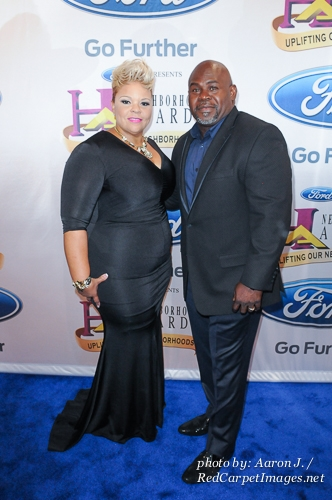 Actor David Mann with Singer / Actress wife Tamela Mann
