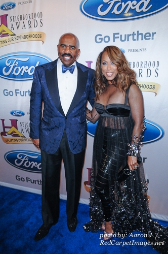 Comedian / Actor / Radio Personality Steve Harvey and wife Marjorie Harvey