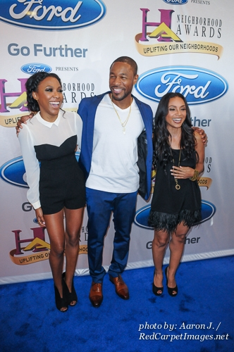 Actresses Megan Holder and Danielle Nicolet with Singer / Actor Tank