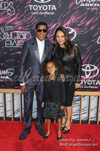 Honoree Kenny  Babyface  Edmonds and family