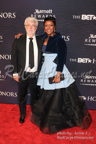 Producer George Lucas and his wife Financial Executive Mellody Hobson