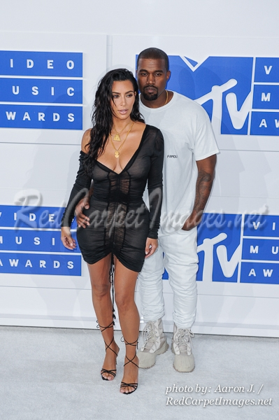 Rapper Kanye West and Kim Kardashian West