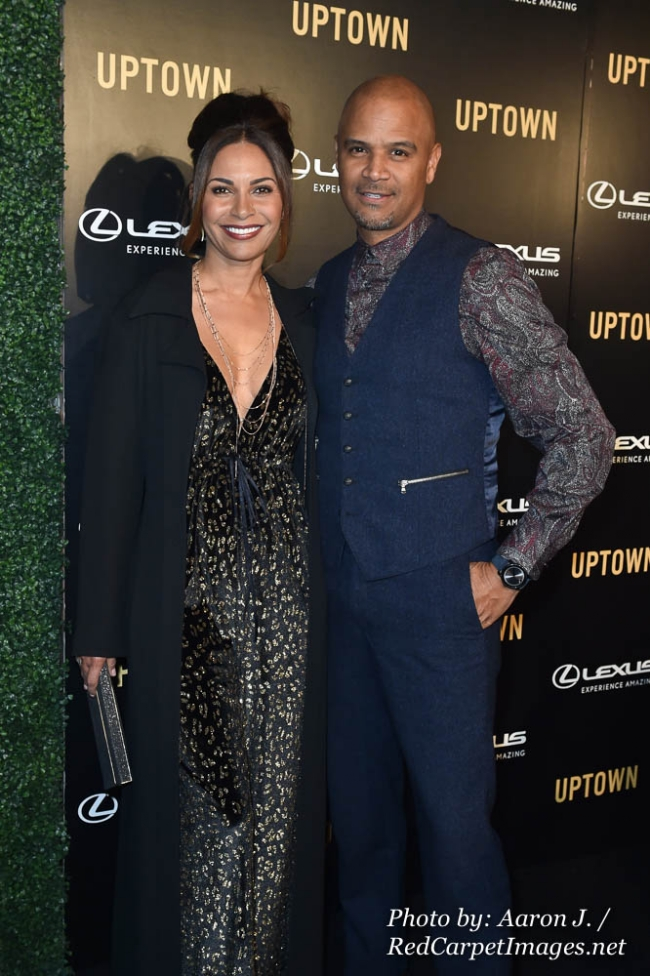 Actors Sally Richardson Whitfield and Dondre Whitfield