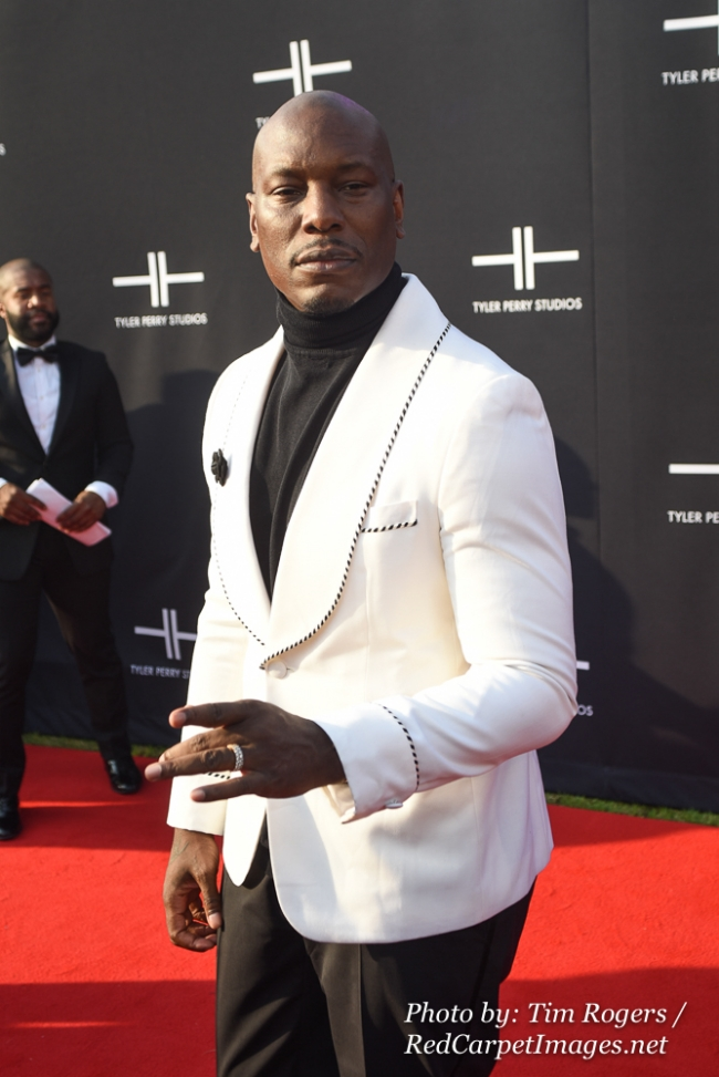 Actor Tyrese Gibson attends Tyler Perry s Atlanta Studio Grand Opening