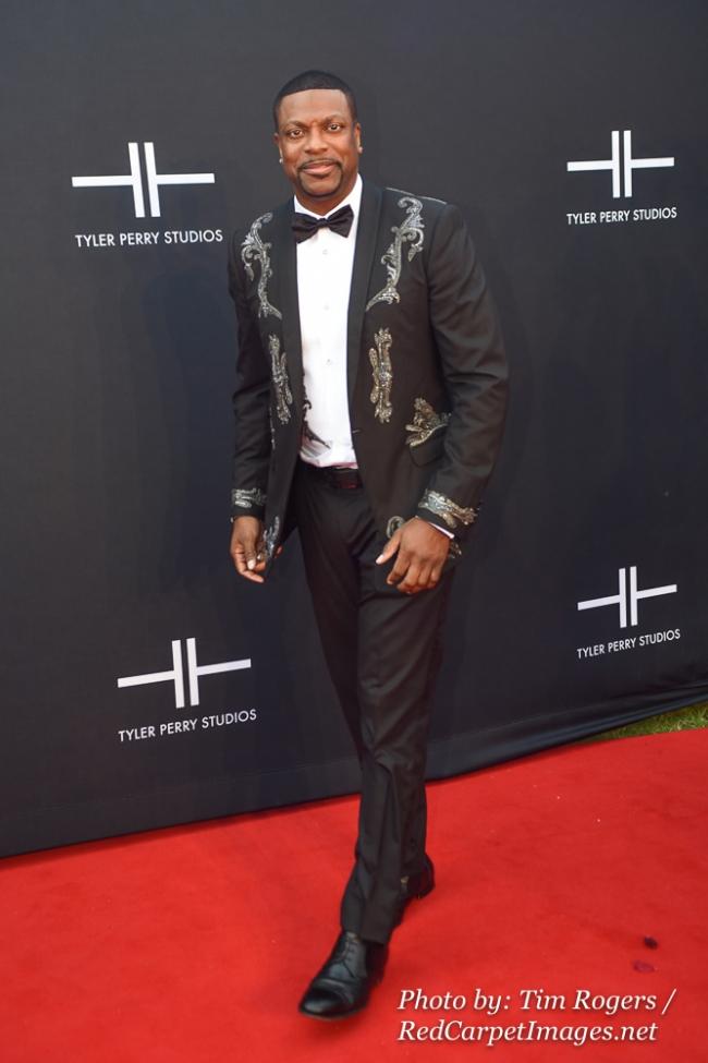 Actor / Comedian Chris Tucker attends Tyler Perry s Atlanta Studio Grand Opening