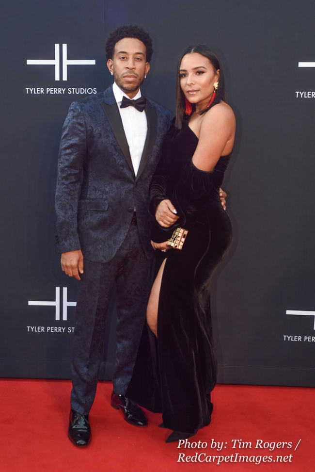 Actor / Rapper Chris Ludacris Bridges and his Wife attend Tyler Perry s Atlanta Studio Grand Opening