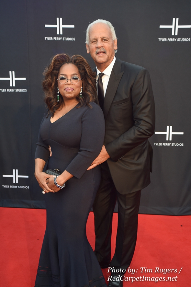 Media Mogul Oprah Winfrey and Stedman Graham attend Tyler Perry s Atlanta Studio Grand Opening