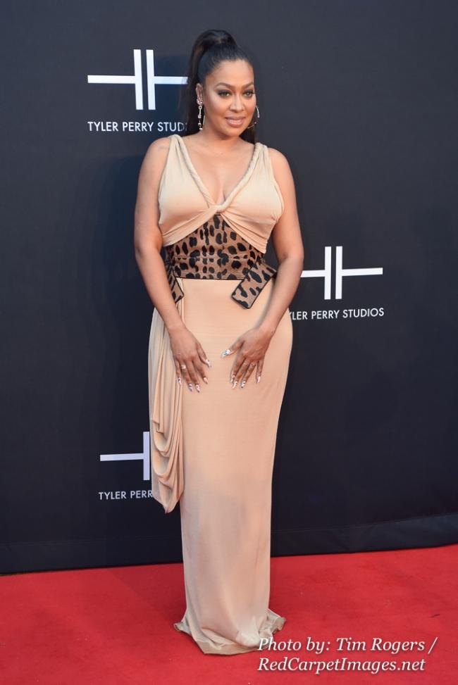 Actress La La Anthony attends Tyler Perry s Atlanta Studio Grand Opening