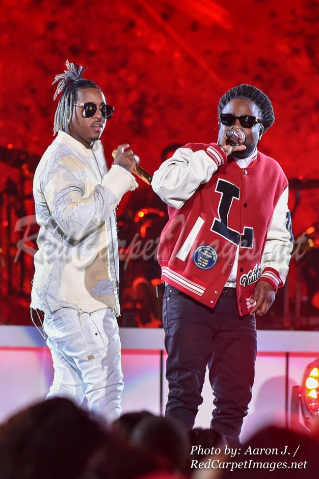 Singers Jeremih and Wale