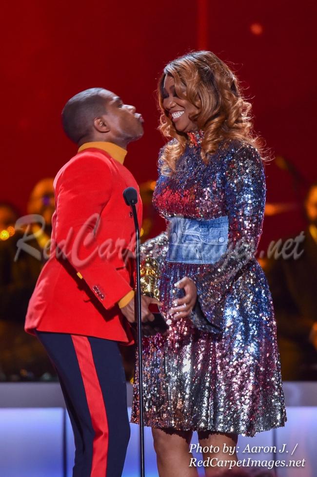 Singer Kirk Franklin and Yolanda Adams