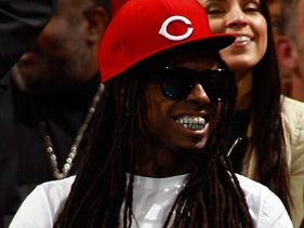 Lil Wayne attends New Orleans Hornets/Miami Heat game, Friday, Nov. 5, 2010