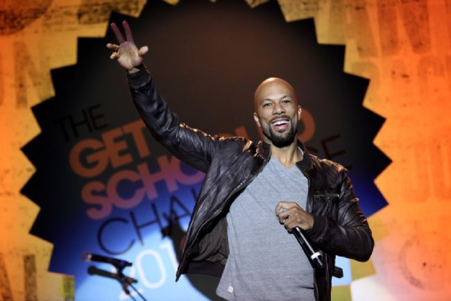 Common participates in the 'Get Schooled National Challenge and Tour' in California