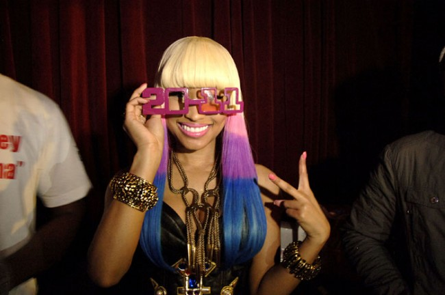Nicki Minaj celebrates New Year s Eve at Mansion
