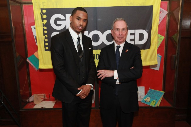 Trey Songz and New York City Mayor Michael Bloomberg